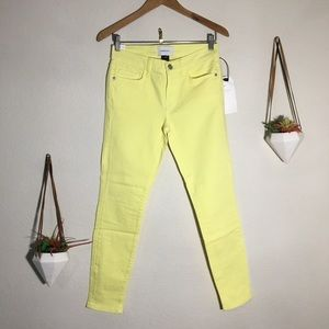 NWT Current / Elliott acid yellow stiletto jeans